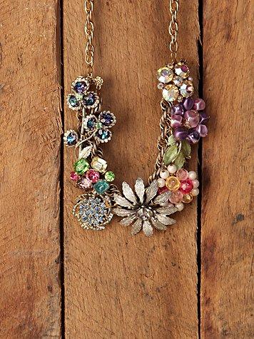 One Of A Kind Vintage Cluster Necklace