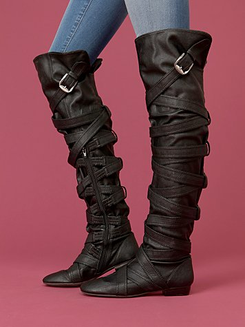 Strapping Over The Knee Boot