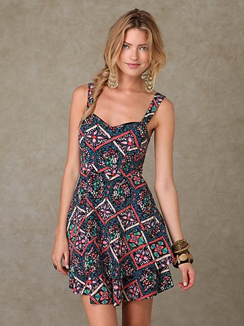 Printed Knit Dress