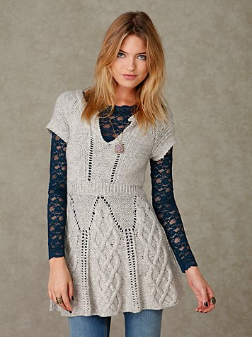 Cabled Thoughts Tunic