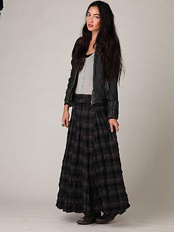CP Shades Plaid Maxi Skirt