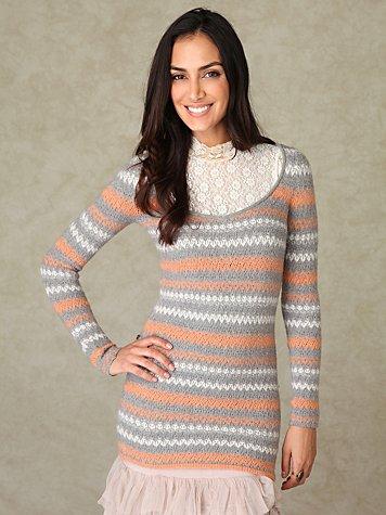 Long Sleeve Stripe Pullover