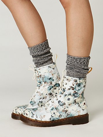 Rose Cloud Lace Up Boot
