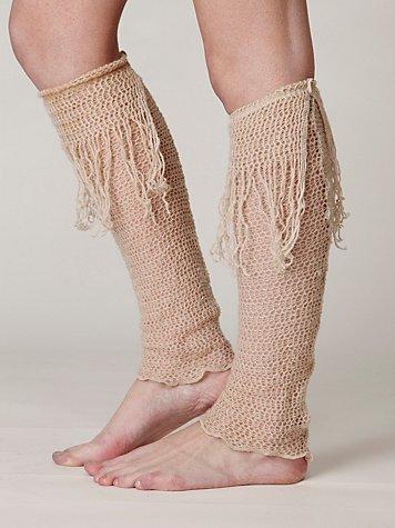 Fringe Crochet Legwarmer