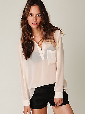 Fluid Trapeze Blouse