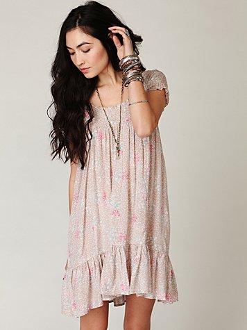 Printed Smocked House Dress