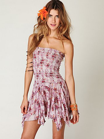 FP ONE Banded Florals Dress