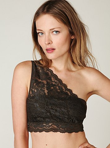 Lace One Shoulder Crop Bra