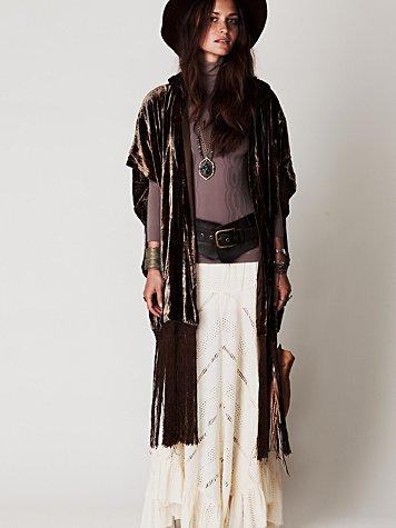 Fringe Hooded Jacket