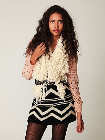 Russian Print Mini Sweater Skirt