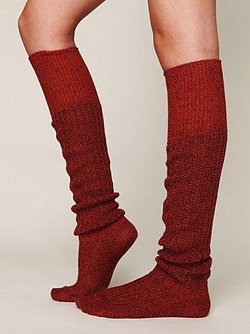 Rib Slouch Tall Sock