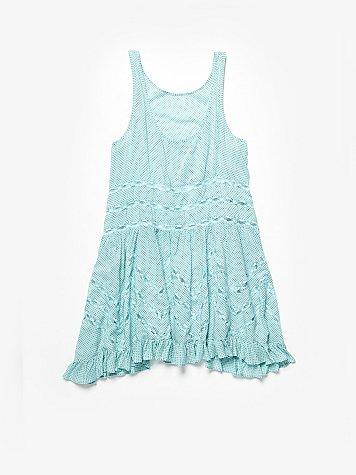 Voile and Lace Trapeze Slip