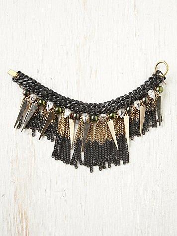 Mia Chain Fringe Bracelet