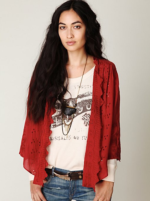 Long Sleeve Embroidered Hi Back Buttondown