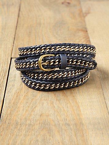 Chain Double Wrap Belt