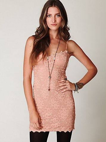 Scallop Lace Tube Dress