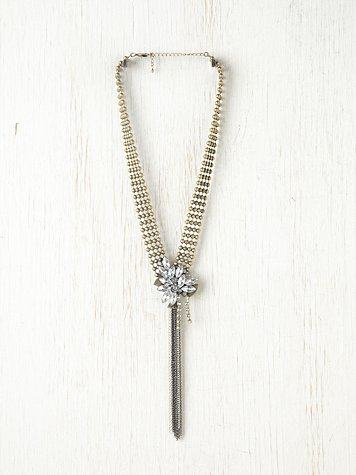 Charm and Chain Cluster Necklace