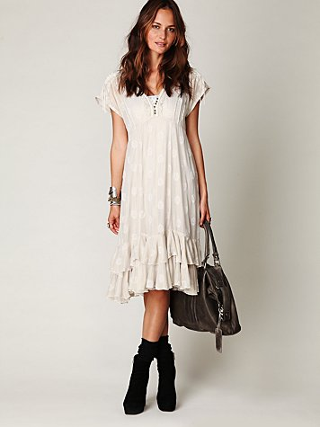 FP New Romantics Foil Tea Length Dress