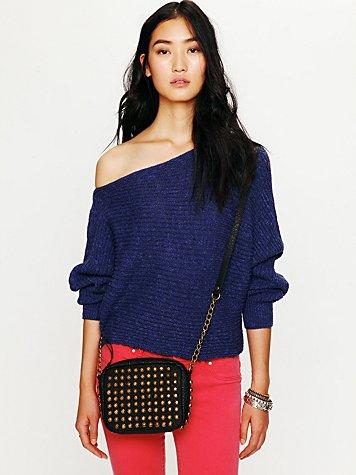 Horizontal Rib Marled Sweater