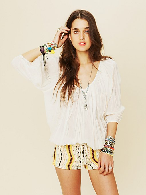 FP ONE City Peasant Blouse