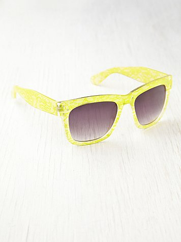 Lace Print Sunglasses