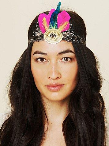 Gilded Feather Headdress