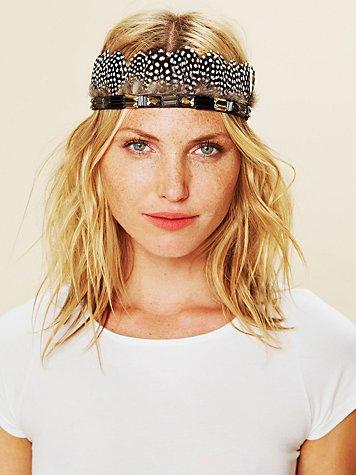 Jeweled Mix Feather Headdress