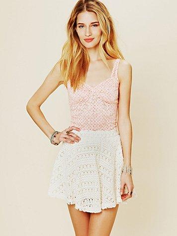 Dot Printed Lace Cami