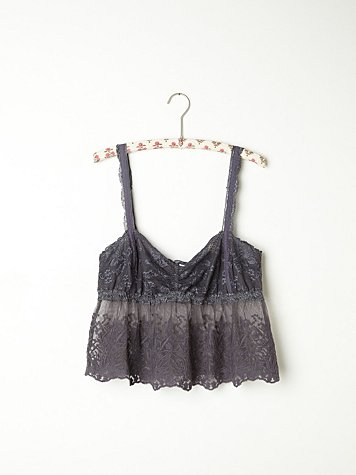 Embroidered Mesh Bustier