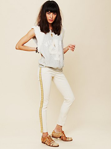 Embroidered Super Skinny