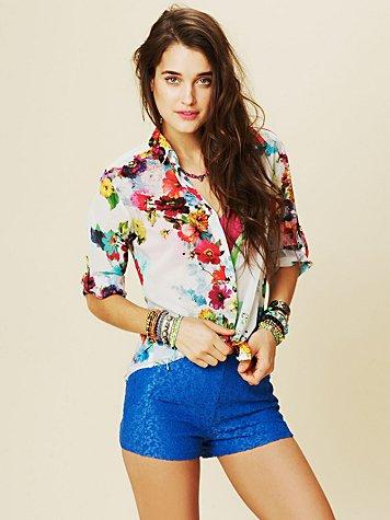 Highwaisted Lace Shorts