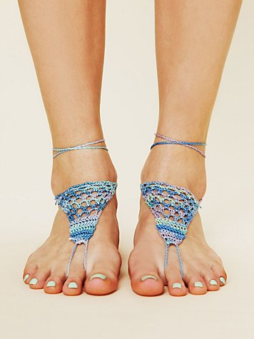 Patterned Barefoot Footsie