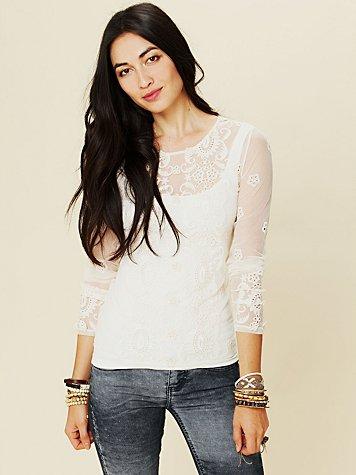 Embellished Long Sleeve Top