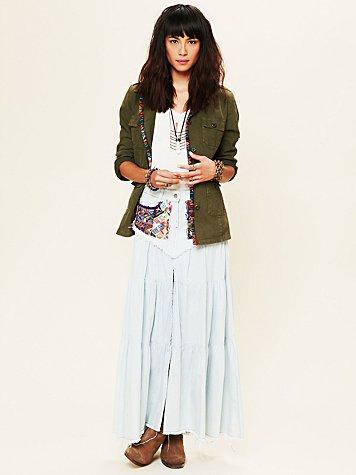 Guipil Saloon Maxi Skirt