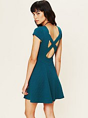 Show Me Your Back Fit and Flare Dress