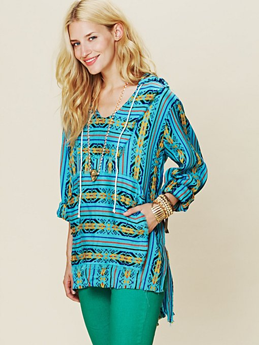 Patterned Poncho
