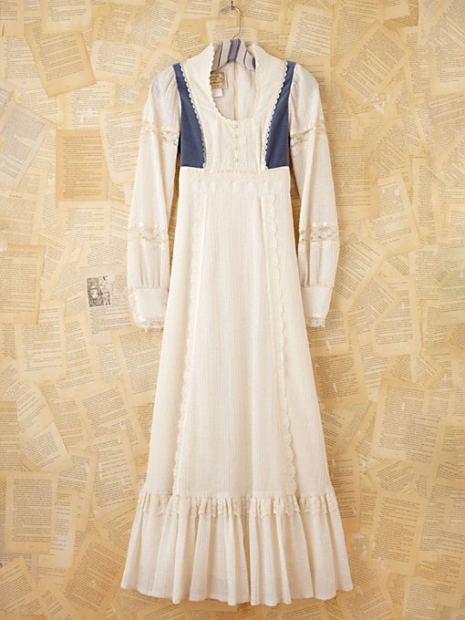 Vintage Blue and White Gunne Sax Dress