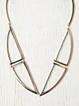 Bentuk V Bronze Necklace