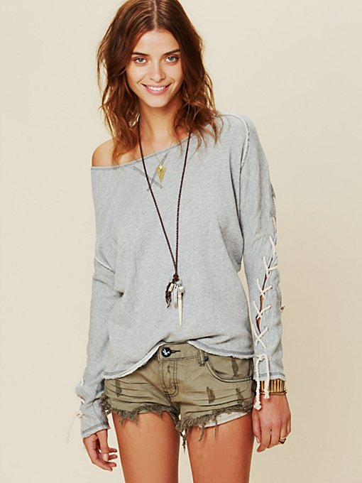 Lace Up Pullover