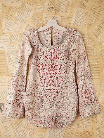 Vintage Batik Printed Top