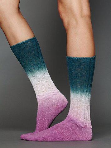 Dip Dye Slouch Sock