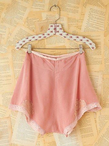 Vintage Pink Silk Knickers