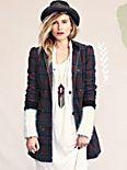 Plaid Corduroy Lady Coat