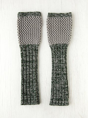 Contrast Long Armwarmers