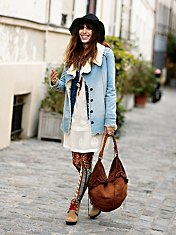 Denim And Sherpa Jacket