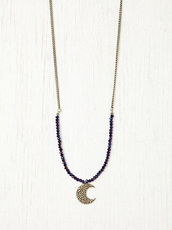 Druzy Moon Pendant