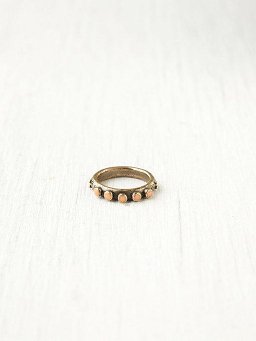 Studded Circles Ring