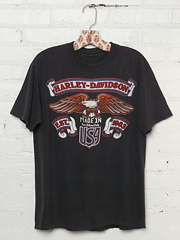 "Vintage Harley Davidson ""Made in USA"" Graphic Tee"