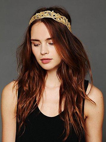 Gold Velvet Headband