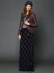 Cameron Plaid Maxi Skirt